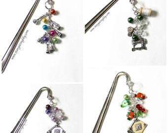 CUSTOM beaded bookmark. You choose the bead colors n charm. Personalized Custom gift for book lover. Unique Christmas Gifts. Gifts for Her