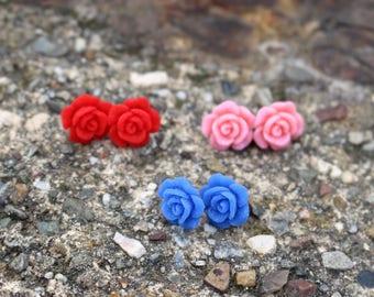 Druzy Stud Earrings   Titanium Earrings   Druzy Earrings   Druzy Studs   Hypoallergenic Studs   Flower Earrings   Druzy Jewelry