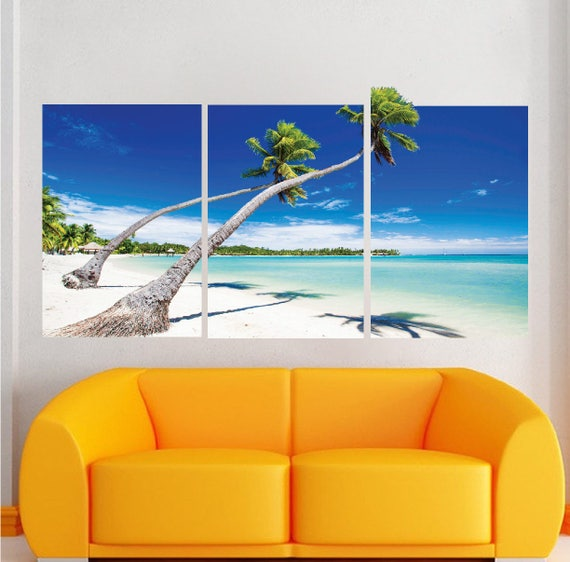 beach wall decal beach wallpaper living room beach murals wall