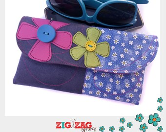 "Glasses or phone case ""Spring"" Indigo (19 x 11 cm)"
