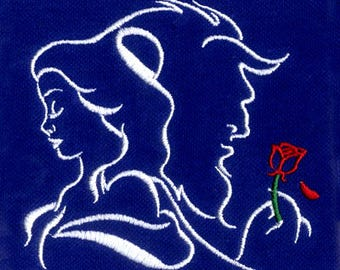Beauty and the Beast Digital Embroidery Design