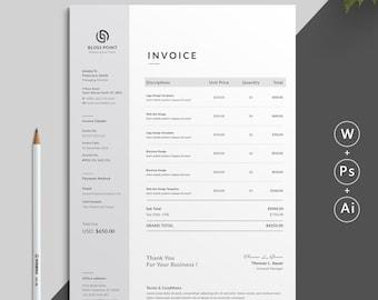 Invoices Etsy - Handyman invoice template pdf online antique store