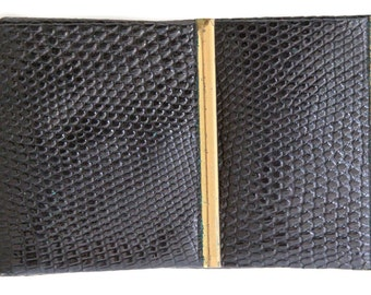 Vintage Animal Reptile Skin Wallet