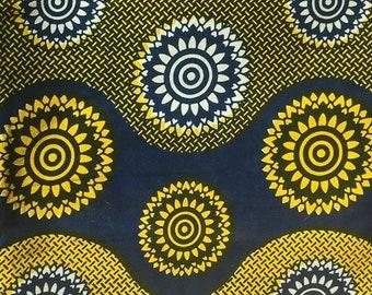 African Ankara Genuine Variable Wax Print Wooden Block Java Fabric