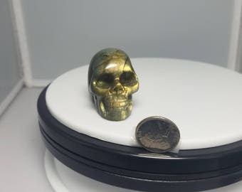 One of a Kind Labradorite Skull Carving