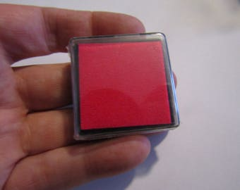 ink pad, 40mm, pink ink for your scrapbooking creations or others