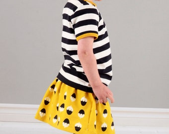 Girls skirt sewing pattern pdf download // pattern and photo instructions // 0-3M to 5-6T // #81