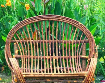 Willow Loveseat ** Bent Willow Settee * Handmade Willow Loveseat