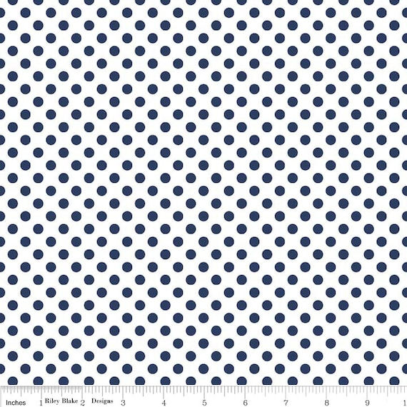 Riley Blake Basics Small Dot Navy C480-21 1 yard