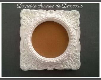 Cast square baroque frame