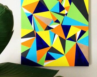 Triangular Geometric Painting