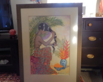 HAWAIIAN ART signed Victoria