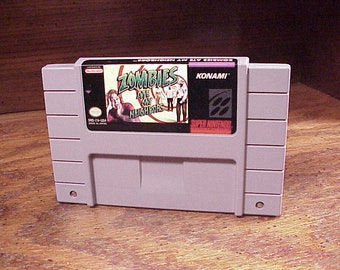SNES Zombies Ate My Neighbors Game Cartridge, no. sns-za-usa, Tested, Retro Video Gaming, Super Nintendo Game System, Genuine, Authentic