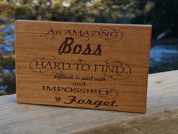 Gift For Boss Engraved Wood Plaque CEO Desk Decor Guy