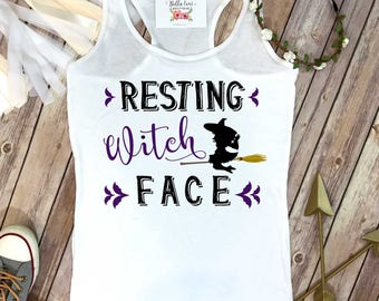 Halloween Shirt, Resting Witch Face, Funny Halloween Shirt, Halloween Shirts, Witch Shirt, Women's Halloween Shirt,Funny Graphic Tees, Witch