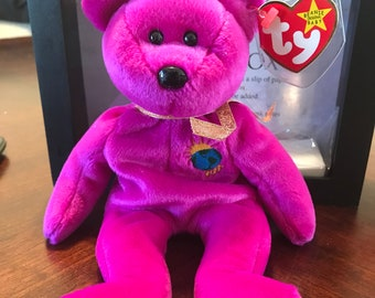 "Rare ""Millennium"" beanie baby with multiple Errors"