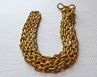 Gold Plated Cable Chain Necklace  - 18 inches