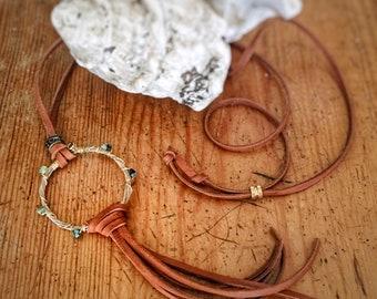Guitar String Circle Pendant Necklace