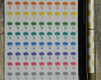 Colorful Mini Balloons Sticker Sheet for Planners (A-088)