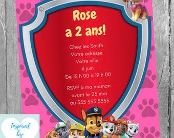 Invitation Fête Etsy