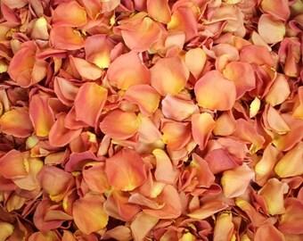 Scented WEDDING TOSS PETALS Coral Peach Fresh Freeze Dried, Bio-degradable, Real Rose Petals, Wedding Color Match, Bulk Orders