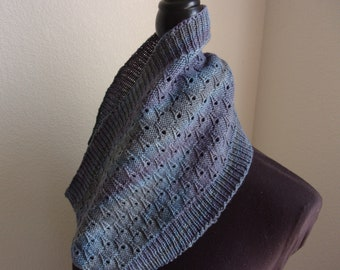 Raindrop Cowl knitting pattern