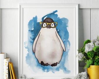Penguin - Penguin Painting - Penguin Art - Penguin Painting - Penguin Print - Penguin Fine Art Print
