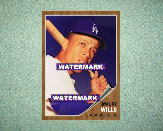 Maury Wills Los Angeles Dodgers Original Card That Could Have Been By Maxcards 1962 Style Custom Baseball Card 25 X 35 Mint