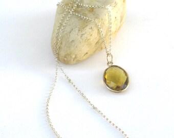 vintage necklace   ...    sterling silver and topaz  ...  simple elegant design
