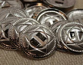 Large Silver Star Conchos (6 pieces)