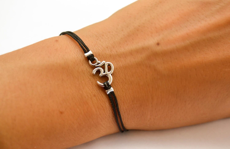 Om bracelet women bracelet with tibetan silver om charm zoom biocorpaavc Images