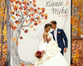 Fall Wedding, Fall Wedding Backdrop, Fall Wedding Banner, Fall Wedding Decor, Fall Engagement Party, Rustic Wedding / W-A30-TP MAR1 AA3