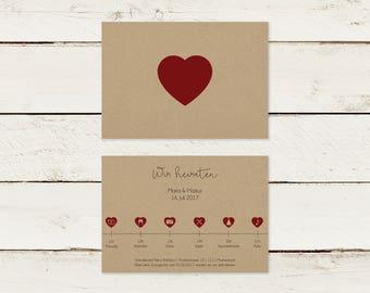 Wedding invitation | Kraft paper | Timeline
