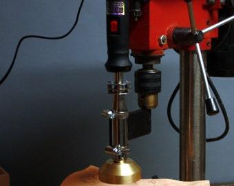 Holder heating branding iron to the bench drills