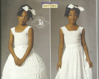 Butterick Pattern # B5901 History Civil War Era Drawers, Underskirt and Hoop Skirt Sewing Pattern Girl's Size 6-7-8