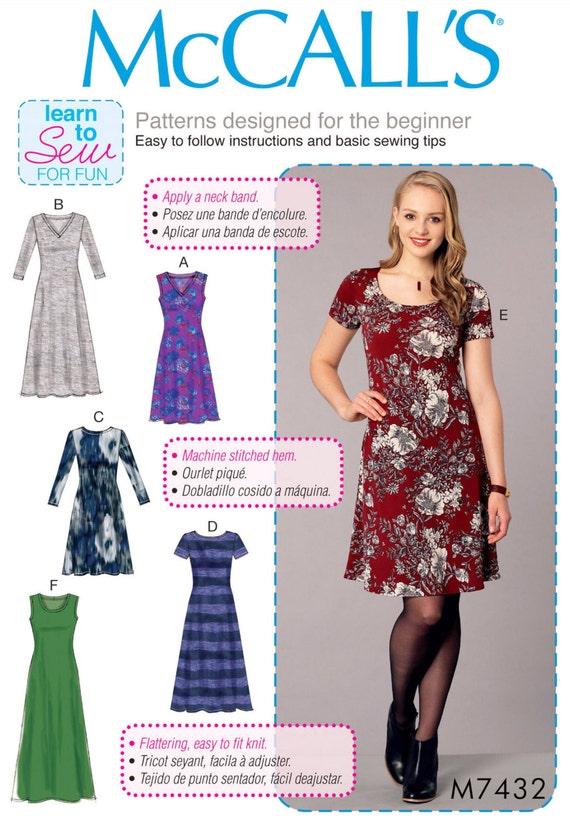 Sewing Pattern Women\'s Dress Pattern Learn to Sew Dress