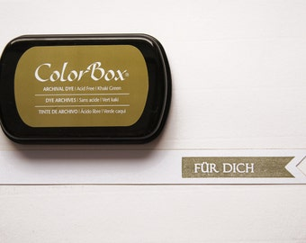 Olive ink stamp pads archival ink ColorBox
