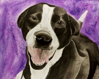 Watercolor, custom pet painting, pet portrait, painting of pets, gift for dog person, pets