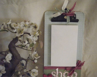Small Magnetic Clipboard with Notepad - HANDMADE BY ME