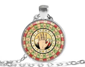 Palm Reader Fortune Teller Gypsy Jewelry Palmistry Necklace Gypsy Necklace Palm Reader Keychain