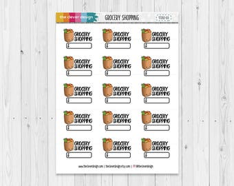 Grocery Shopping Planner Stickers | 17202-03