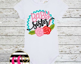 baby sister bodysuit. baby girl one piece. sibling set shirts. little sister clothing