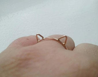 Cat Ears Ring Cat Ring 14k Rose Gold Fill