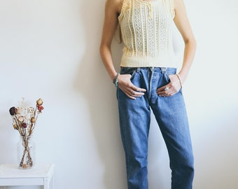 Vintage Knitted vest, 70s Knitwear, 70s Style, Crochet Vest, Boho Clothing, Hippie, Vintage Vest, Vintage Knitwear, Bohemian