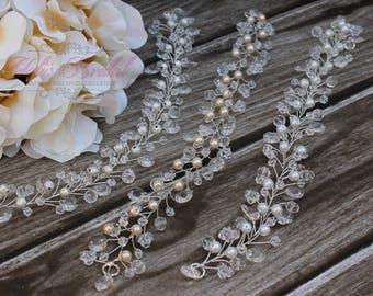 Neu!!!  Silber, Kristall und Perle Haar Weinstock, Haarkranz, Hochzeitshaarkamm, Braut Stirnband