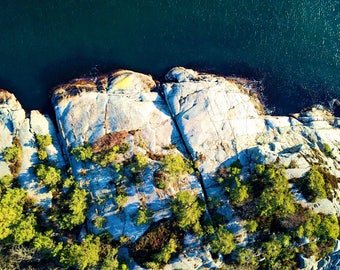 Drone Photography Ocean Above Colorful Norway Nature Aerial Cliff