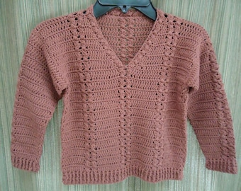 Boys Crocheted Cable Sweater 2-3 yrs.