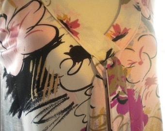 Vintage Floral Sleeveless Maxi Dress