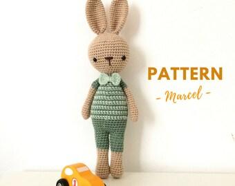Marcel | Crochet Bunny Pattern, Crochet Pattern, Crochet Bunny, Amigurumi Pattern, Amigurumi Bunny, Amigurumi Bunny Pattern, PDF