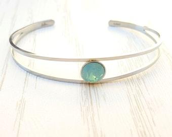 Stainless steel bracelet Swarovski crystal